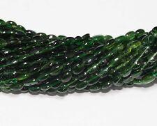 "14"" TINY Green Tourmaline Oval Beads 4x3mm Super FINE"
