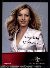 Christina Schulte TELE 5 AK Original Signiert u.a. Unter Uns +40235 + 86922