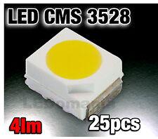 124/25# LED CMS Blanche  PLCC2 3528 25pcs 1200mcd -  white - blanc