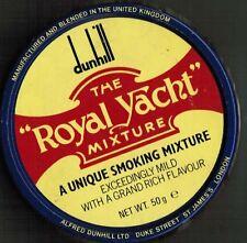 S17X - Scatola di latta DUNHILL ROYAL YACHT MIXTURE  tabacco + Stikers  Vintage