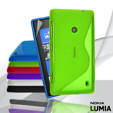 6 Colour Premium S Curve Jelly Case Cover for Nokia Lumia 520 + Screen Guard