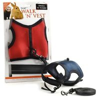 Walk 'N' Vest Small Pet Harness and Leash Rabbit Ferret Cat  Guinea Pig  Rat