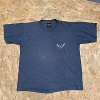 Vintage Harley Davidson ELKRIDGE, MD Graphic T Shirt Tee - Blue/Grey L Large