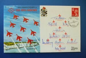 1989 25TH ANNIVERSARY RED ARROWS DOVER 1971 MULTI SIGNED COVER