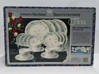 Vintage NEW in Box Johann Haviland Bavaria Germany Blue Garland 20 Piece Set