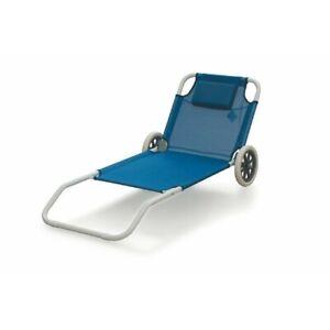 lettino lettini sdraio spiaggia con ruote trolley runner