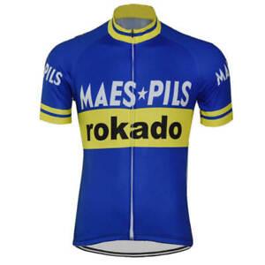 Retro Maes Pils Rokado Cycling Jersey cycling Short Sleeve jerseys
