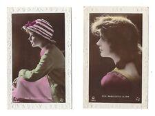 Vintage RP embossed hand coloured postcards Miss Marguerite Clark, 1920