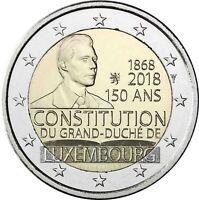 Luxemburg 2 Euro 2018 150 Jahre Verfassung Gedenkmünze bankfrische Münze