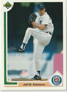 Jeff M Robinson Pitcher Tigers 1991 Upper Deck # 676 6 yrs in MLB