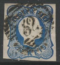 Portugal - 1856, 25r Blue (Type a) - Single Lines - 4 Margins - Used - SG 20