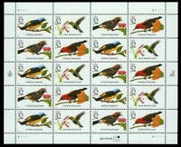 1998 US Tropical Birds - Sheet of 20 (32 cents) Stamps Mint - Scott #3222-3225a