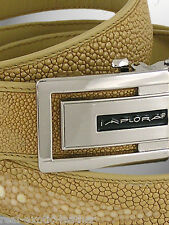 Stingray Skin Belt ## Tan Beige Brown ## Genuine ##