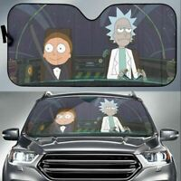 Rick and Morty Windshield Cover Accordion Reflective Sunshade 58IN X 27.5IN