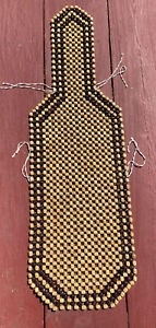 Vintage Wood Beaded Bucket Car Seat Cover Ran Brown Massages As You Drive!!