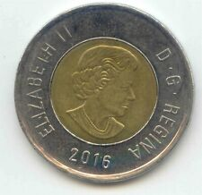 Canada 2016 Toonie Canadian $2 Dollars Two Dollar Coin ~