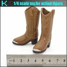 ee907d08545 L18-17 1 6 scale action figure Women s western cowboy exotic leather boots
