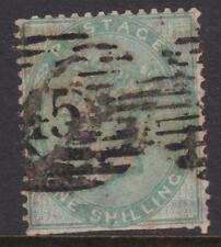 c.1856 GB UK QV 1/- Shilling Green Used