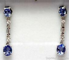 Tanzanite White Gold Diamond Fine Earrings