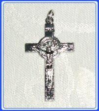 wCB214 Rosary St. Benedict crucifix in metal with ring-from Medjugorje set 5 pcs