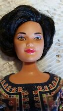 BARBIE DOLL SINGAPORE AIRLINES 1991 KIRA MARINA FACE SHORT CUT BRUNETTE VINTAGE