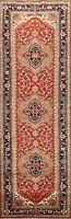Geometric Heriz Serapi Oriental Runner Rug Wool Hand-knotted Hallway Carpet 3x10