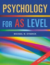 Psychology for AS Level,Michael W. Eysenck