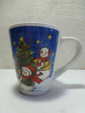 Snowmen Christmas Large Stoneware Coffee/Tea Mug  #324