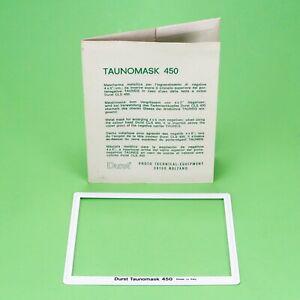 "Durst Taunomask 450 Metal Mask Insert 4x5"" Tauneg Neg. Carrier Laborator 1000"