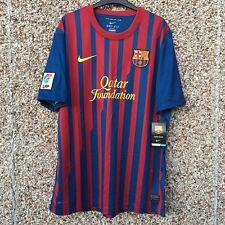 Barcelona FC 2011 2012 Hogar Camiseta De Fútbol Adulto Pequeño Nuevo camiesta