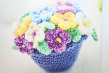 Flowers and Flowerpot Toy Crochet Pattern