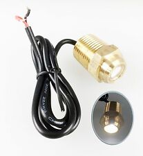 """Pactrade Marine Boat White LED Brass Drain Plug 1/2"""" NPT Underwater Light 12V"""