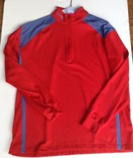 Nike Golf Sphere Dry Mens Red XXL Athletic Long Sleeve Shirt 3/4 Zip Stretch NWT