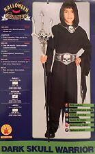 DARK SKULL WARRIOR CHILD HALLOWEEN COSTUME BOY SIZE MEDIUM 8-10