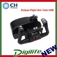 CH Products Eclipse Flight Sim Yoke USB For PC & Mac CH-200-616