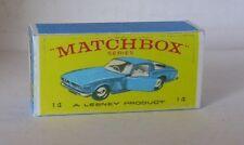 Repro Box Matchbox 1:75 Nr.14 Iso Grifo hellblau