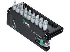 WERA Bit Sortiment Bit-Check-Rapidaptor 9-teilig, zähharte Bits TORX T6-40