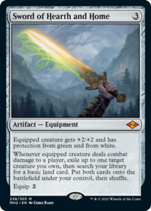 SWORD OF HEARTH AND HOME - Modern Horizons 2 MtG Artifact MYTHIC RARE Card # 238