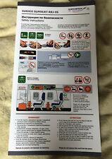 Aeroflot Sukhoi Superjet RRJ-95 Aeroflot safety card new one