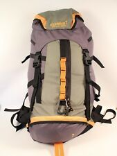 EUREKA CAMP TRAILS GETAWAY 3500 GREEN/YELLOW/GREY FRAMELESS BACKPACK, VERY COMFY