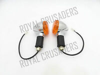 ROYAL ENFIELD CLASSIC UCE LH/RH CHROME INDICATOR SET #RE87
