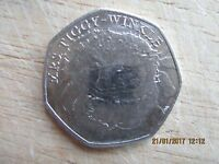 50p Coin Mrs Tiggy-Winkle VG Condition 50 pence