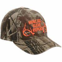 Men's Camouflage Hunter Baseball Hat Cap Camo Graphic Hunt Eat Sleep Repeat