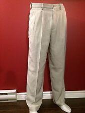 METRO CONCEPTS Claiborne Men's Pleated Cuffed Stone Dress Pants - 32W x 32L NWT