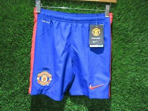 BNWT 2014 2015 MANCHESTER UNITED NIKE 3RD SHORTS = KIDS SIZE 13-15 YEARS