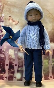 """""""LITTLE BOY SET IN BLUES"""" OUTFIT FOR LITTLE DARLING  DIANNA EFFNER 13"""""""