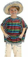 Mexican Poncho Boys Girls Childrens Costume