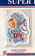 1990 SUPER BOWL XXIV 24 PATCH ONLY SAN FRANCISCO 49ERS DENVER BRONCOS WILLABEE