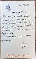 Frola Secondo Senatore Sindaco di Torino ministro delle poste lettera autografa