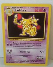 Kadabra 32/102  Pokemon Card Uncommon Original Base Set NM Great Condition